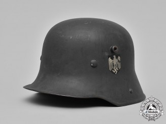 Germany, Wehrmacht. A Refurbished M18 Steel Helmet, c.1940