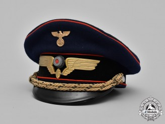 Germany, Reichsbahn. A Railway Service High Ranking Official's Visor Cap, by Ludwig Vögele