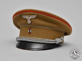Germany, HJ. An Officer's Visor Cap by Karl Naubert, ca. 1941