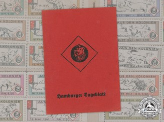 "Germany, NSDAP. A Subscription Fee Booklet For NSDAP Newspaper ""Hamburger Tageblatt"", 1939-1943"