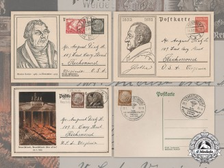 Germany, Weimar. A Lot of Weimar Period Postcards Addressed to August Dietz Sr. of Richmond, Virginia