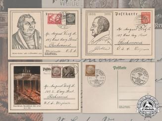 Germany, Weimar. A Lot of Weimar Period Postcards Addressed to August Dietz Sr. of Richmond, Virginia