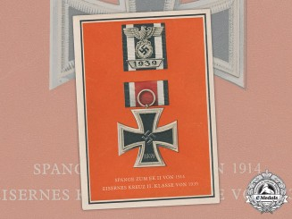 Germany, Third Reich. A Colour Postcard of an Iron Cross II Class and Clasp, by Verlag C. Pahl & Co.