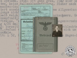 Germany, Heer. A Wehrpaß And Health Book To Gefreiter Josef Schmid