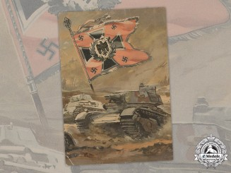 Germany, Wehrmacht. A Colour Postcard of an Oil Painting by Victor Mundorff