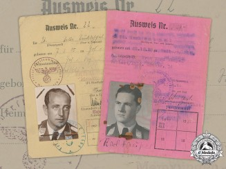 Germany, Luftwaffe. A Lot Of Two Lieutenants' ID Cards