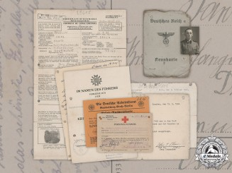 "Germany, Waffen-SS. A Document Collection To Medical Orderly SS-Unterscharführer Heinz Pawelski, ""Hohenstaufen"" Division"