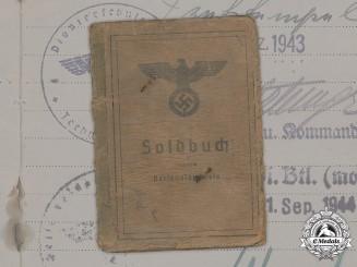 Germany, Heer. A Soldbuch to Pionier-Bataillon 219, Yugoslav Partisans