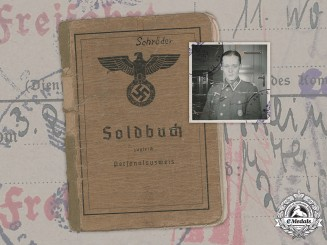 Germany, Heer. A Soldbuch to Oberleutnant Horst Schröder, 93rd Infantry Division