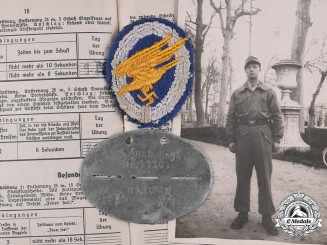 Germany, Luftwaffe. A Group of Awards, Documents, and Photographs to Fallschirmjäger Karl-Heinz Schultenjohann
