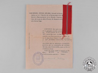 Spain, Franco Period. A Spanish Blue Division Document Group to Alfredo Medinilla Hernández