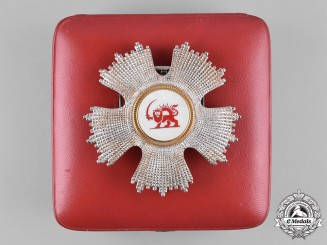 Iran, Qajar Dynasty. A Red Lion & Sun Society of Iran, Breast Star, by Lattes, c.1922