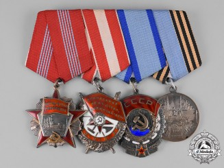 Russia, Soviet Union, Russian Federation. A Veteran's Group of Four