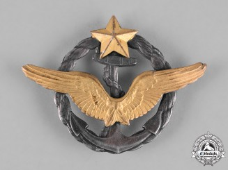 France, III Republic. A Maritime Aviation Aircraft Pilot Qualification Badge, c.1939
