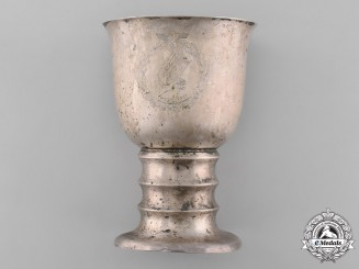 Germany, Luftwaffe. A Crete Campaign Commemorative Goblet, Named to Major Egon Liebach, by Wilhelm Binder