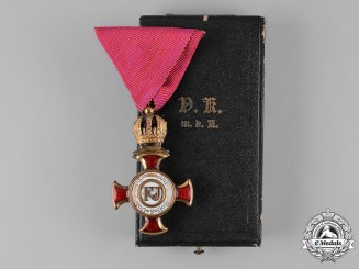 Austria, Imperial. A Cross of Merit with Crown, by Wilhelm Kunz, c.1918