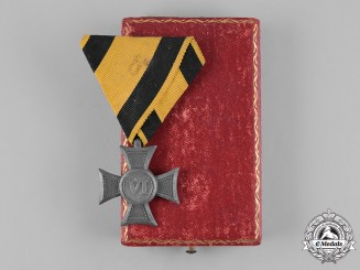 Austria, Imperial. A 6-Year Long Service Decoration, with Case, by József Morzsányi