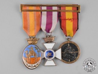 Spain, Franco Period. A Civil War Medal Bar