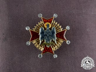 Spain, Franco Period. An Order of the Cisneros in Gold & Diamonds, Miniature Star, c.1945