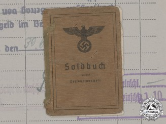 Germany, Heer. A Soldbuch to Gefreiter Heinz Wohl, 710th Infantry Division