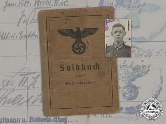 Germany, Heer. A Soldbuch to Obergefreiten Erich Schmidt, 641st Heavy Artillery Company