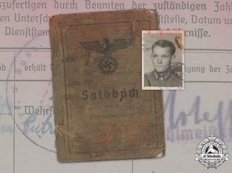 Germany, Heer. A Soldbuch to Gefreiten Günther Ripf, 7th Infantry Division