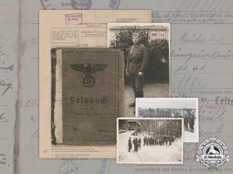 Germany, Heer. A Soldbuch & Document Group to Corporal Friedrich Seitz, 7 Gebirgs Division