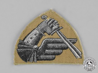 Poland, Republic. A II Warsaw Armoured Division Sleeve Badge, c.1945