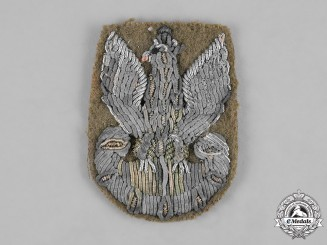 Poland, Republic. A Italian-Manufactured Army Beret Eagle c,1945