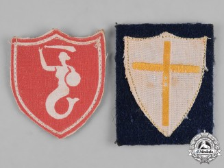 Poland, Republic. Two Army Sleeve Insignia, c.1944