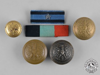 Poland, Republic. A Lot of Six Items, c.1945