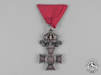 Bulgaria, Kingdom. An Order of St. Alexander, Silver Merit Cross with Crown, c.1900