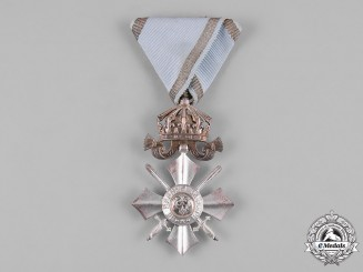 Bulgaria, Kingdom. An Order of Military Merit, VI Class Silver Merit Cross with Crown, c.1918