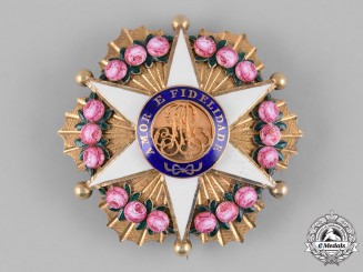 Brazil, Independent Empire. An Order of the Rose in Gold, Officer's Star, c.1900