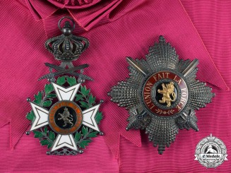 Belgium, Kingdom. An Order of Leopold, I Class Grand Cross, Military Division