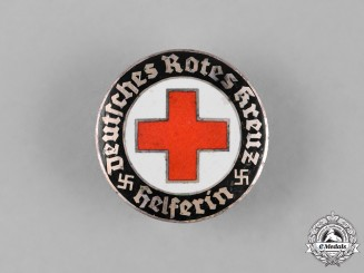 Germany, DRK. A Red Cross Helper's Service Badge, by Hermann Aurich