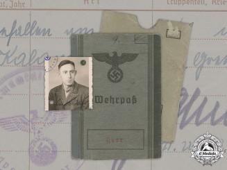 Germany, Heer. A Wehrpaß to Erich Albert Adam, Infanterie-Regiment 267