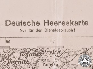 Germany, Heer. An Official Army Map Of A Section Of The Alpine/Danube Region, 1944