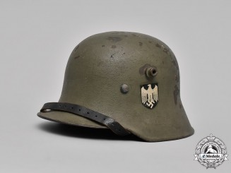 Germany, Heer. A Heer M17 Transitional Steel Helmet