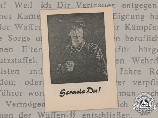 Germany, SS. A Waffen-SS Recruiting Pamphlet