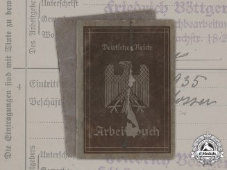 Germany, Weimar. A Pair of German Labour Books