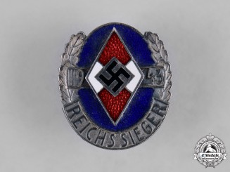 Germany, HJ. An Honour Badge of the National Champions, Silver Grade