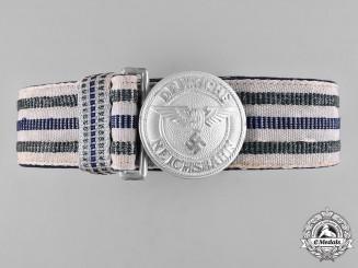 Germany, Reichsbahn. A Railway Police Leader's Brocade Dress Belt and Buckle, by Assmann
