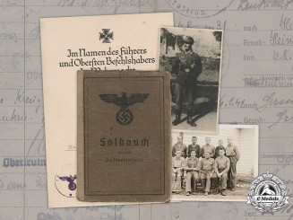 Germany, Heer. A Soldbuch & Document Group to Sergeant Wilhelm Lasch, 30 ID and POW