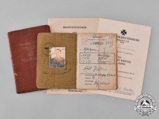 Germany, Heer. A Soldbuch to Unteroffizier Karl Griebling, 208th Infantry Division