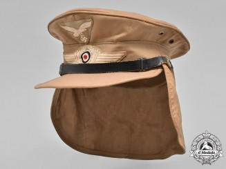 Germany, Luftwaffe. A Tropical Hermann Meyer Type EM/NCO Service Cap