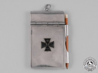 Germany, Imperial. A Metal-Cased Notepad and Pencil