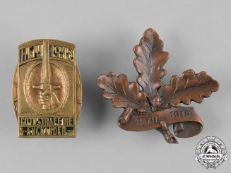 Germany, Imperial. A Pair of Commemorative Badges