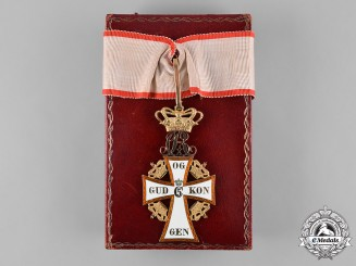 Denmark, Kingdom. An Order of Dannebrog in Gold, II Class Commander with Case, by A. Michelsen