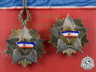 Yugoslavia, Republic. An Order of the Yugoslav Flag with Golden Wreath, Badge and Breast Star, with Case